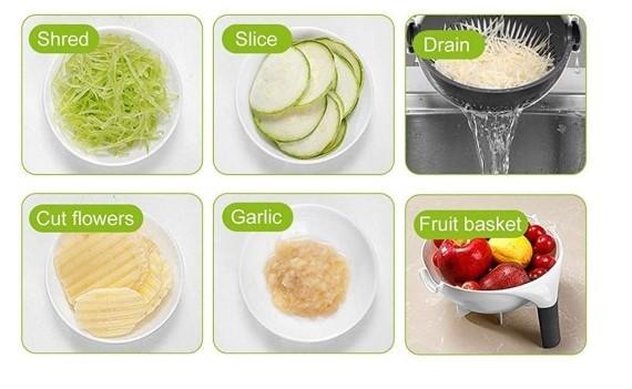 Rallador/colador de vegetales