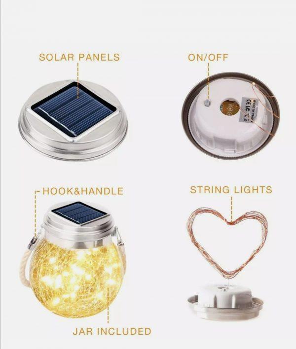 Lámpara solar decorativa